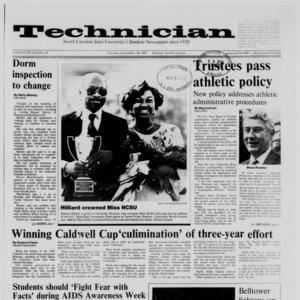 Technician, Vol. 69 No. 32, November 10, 1987