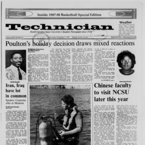 Technician, Vol. 69 No. 33, November 11, 1987