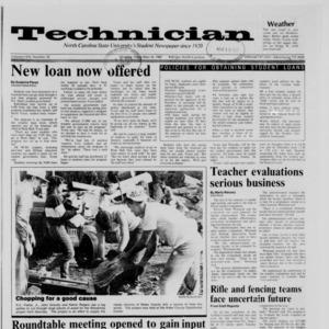 Technician, Vol. 69 No. 35, November 16, 1987