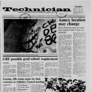 Technician, Vol. 69 No. 36, November 18, 1987