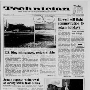 Technician, Vol. 69 No. 37, November 20, 1987