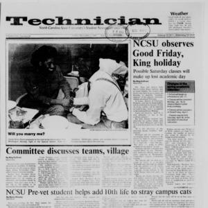 Technician, Vol. 69 No. 41, December 4, 1987