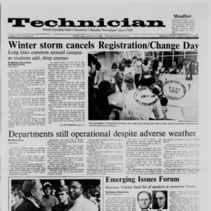 Technician, Vol. 69 No. 42, January 13, 1988