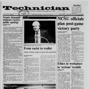 Technician, Vol. 69 No. 45, January 22, 1988