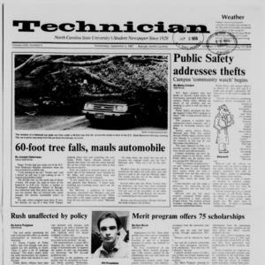 Technician, Vol. 69 No. 5, September 2, 1987