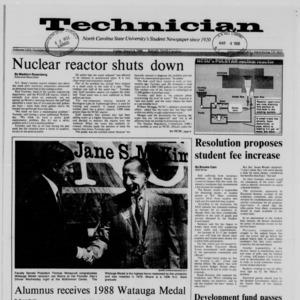 Technician, Vol. 69 No. 63, March 4, 1988