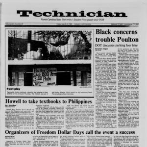 Technician, Vol. 69 No. 69, March 25, 1988