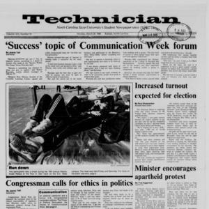 Technician, Vol. 69 No. 70, March 28, 1988