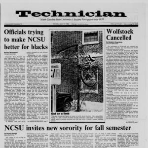 Technician, Vol. 69 No. 74 [75], April 11, 1988