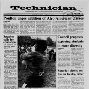 Technician, Vol. 69 No. 75 [76], April 13, 1988