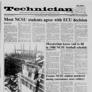 Technician, Vol. 69 No. 8, September 11, 1987