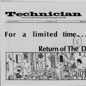 Technician, Vol. 69 No. 81 [82], June 1, 1988