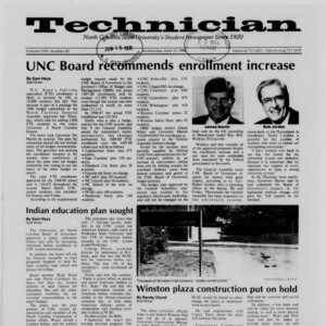 Technician, Vol. 69 No. 83 [84], June 15, 1988