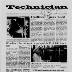 Technician, Vol. 69 No. 85 [86], July 6, 1988