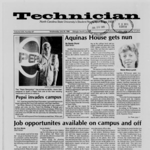 Technician, Vol. 69 No. 87 [88], July 20, 1988