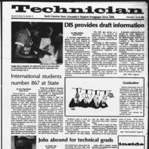 Technician, Vol. 6 No. 10 [Summer 1980 No. 10], July 30, 1980