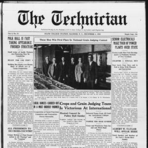 Technician, Vol. 6 No. 13, December 4, 1925