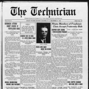 Technician, Vol. 6 No. 14, December 11, 1925