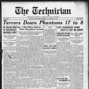 Technician, Vol. 6 No. 22, February 20, 1926