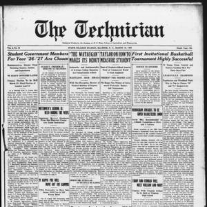 Technician, Vol. 6 No. 25, March 13, 1926