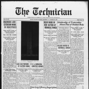 Technician, Vol. 6 No. 26, March 20, 1926