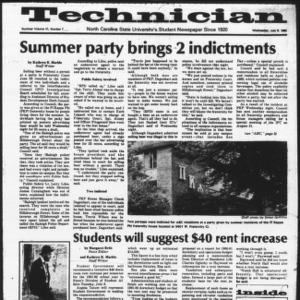 Technician, Vol. 6 No. 7 [Summer 1980 No. 7], July 9, 1980