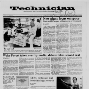 Technician, Vol. 70 No. 13, September 28, 1988