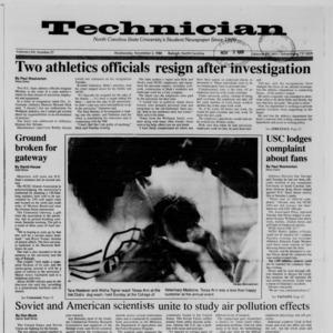 Technician, Vol. 70 No. 27, November 2, 1988