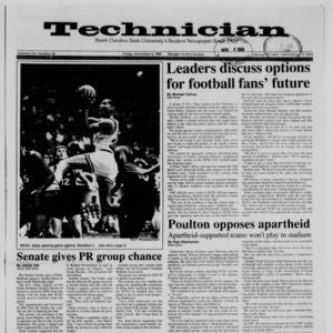 Technician, Vol. 70 No. 28, November 4, 1988