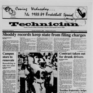 Technician, Vol. 70 No. 29, November 7, 1988