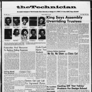 Technician, Vol. 70 No. 3 [Vol. 46 No. 3], September 21, 1965