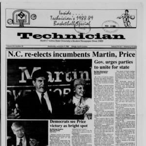 Technician, Vol. 70 No. 30, November 9, 1988
