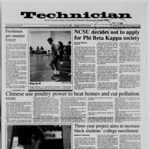 Technician, Vol. 70 No. 33, November 16, 1988