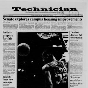 Technician, Vol. 70 No. 34, November 18, 1988
