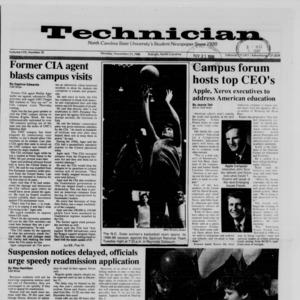Technician, Vol. 70 No. 35, November 21, 1988