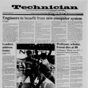 Technician, Vol. 70 No. 36, November 28, 1988
