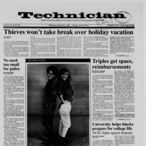 Technician, Vol. 70 No. 40, December 7, 1988