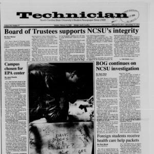 Technician, Vol. 70 No. 57, February 13, 1989