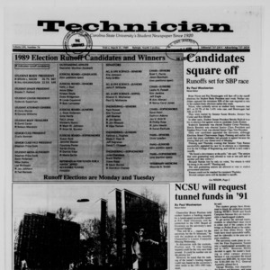 Technician, Vol. 70 No. 76 [72], March 31, 1989