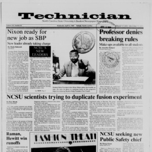 Technician, Vol. 70 No. 81 [77], April 12, 1989