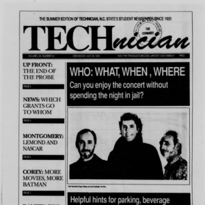 Technician, Vol. 70 No. 94 [89], July 26, 1989