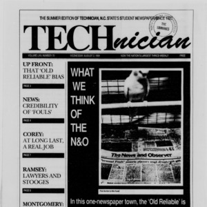 Technician, Vol. 70 No. 95 [90], August 2, 1989
