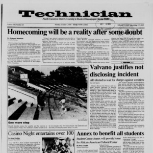 Technician, Vol. 71 No. 20, October 9, 1989