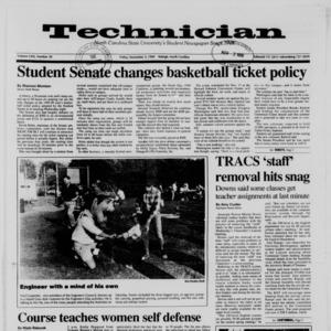 Technician, Vol. 71 No. 30, November 3, 1989