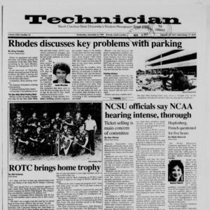 Technician, Vol. 71 No. 32, November 8, 1989