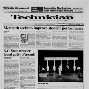 Technician, Vol. 71 No. 37, November 20, 1989