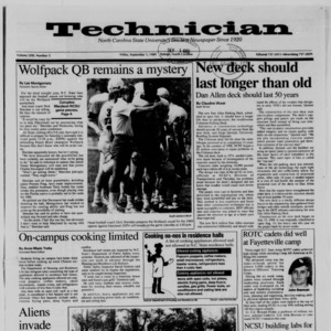 Technician, Vol. 71 No. 5, September 1, 1989
