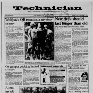 Technician, Vol. 71 No. 5, September 1, 1989