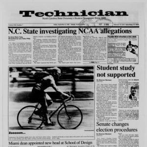 Technician, Vol. 71 No. 7, September 8, 1989