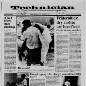 Technician, Vol. 71 No. 8, September 11, 1989